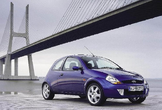FORD Ka hatchback niebieski jasny przedni prawy