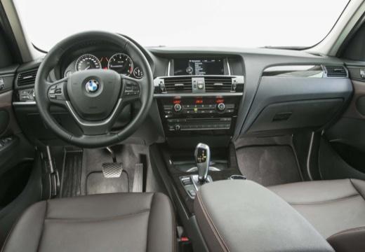 BMW X3 X 3 F25 II kombi silver grey tablica rozdzielcza