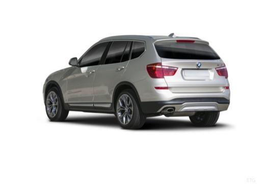 BMW X3 X 3 F25 II kombi silver grey tylny lewy