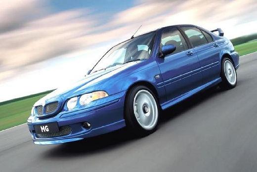 MG ZS sedan niebieski jasny przedni lewy