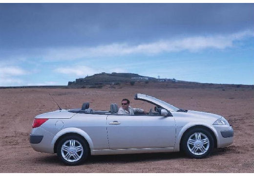 RENAULT Megane CC kabriolet silver grey boczny prawy