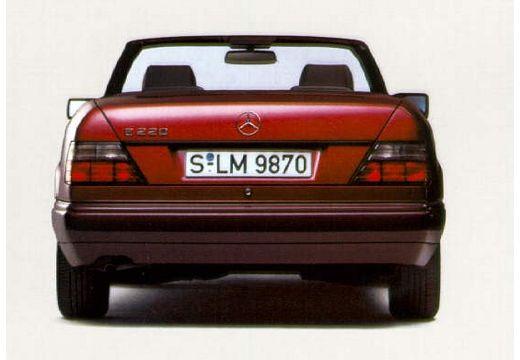 MERCEDES-BENZ Klasa E Cabrio 124 kabriolet czerwony jasny tylny