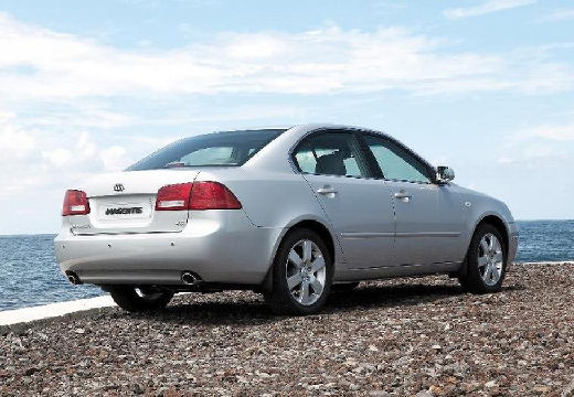 KIA Magentis III sedan silver grey tylny prawy