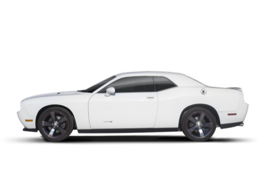 DODGE Challenger coupe biały boczny lewy