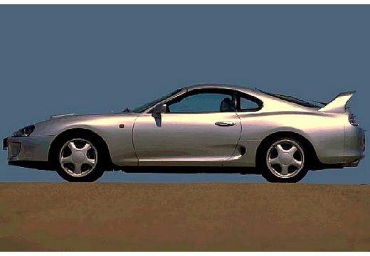 Toyota Supra coupe silver grey boczny lewy