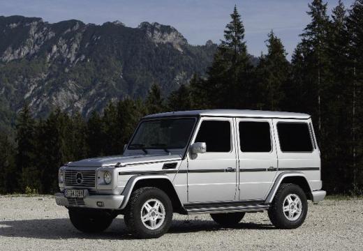 MERCEDES-BENZ Klasa G soft top silver grey przedni lewy