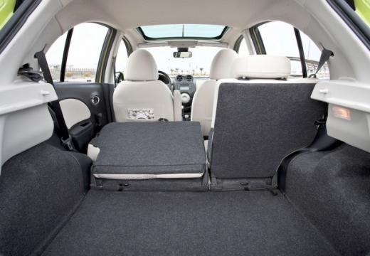 NISSAN Micra VIII hatchback przestrzeń załadunkowa