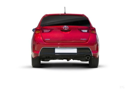 Toyota Auris I hatchback czerwony jasny tylny