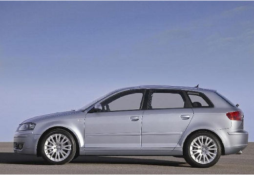 AUDI A3 Sportback I hatchback silver grey boczny lewy
