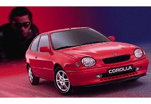 Toyota Corolla hatchback czerwony jasny przedni prawy