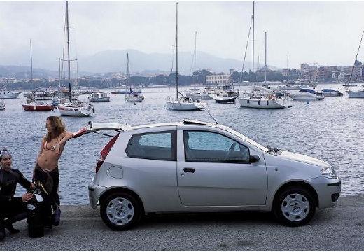 FIAT Punto II II hatchback silver grey boczny prawy