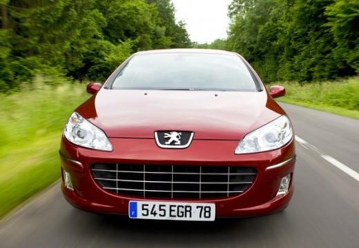 PEUGEOT 407 sedan czerwony jasny przedni