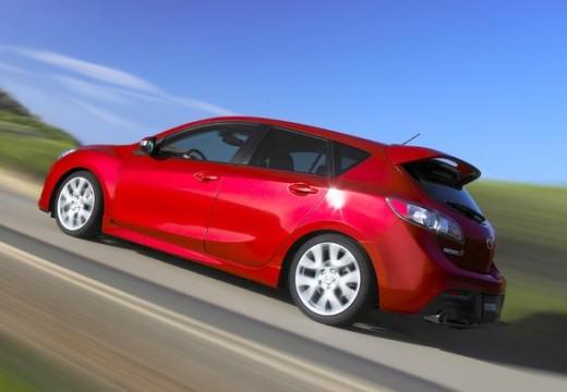 MAZDA 3 III hatchback czerwony jasny tylny lewy