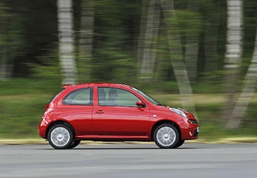 NISSAN Micra VI hatchback czerwony jasny boczny prawy