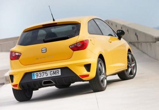 SEAT Ibiza V hatchback żółty tylny prawy