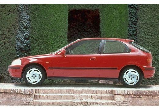 HONDA Civic III hatchback czerwony jasny boczny lewy