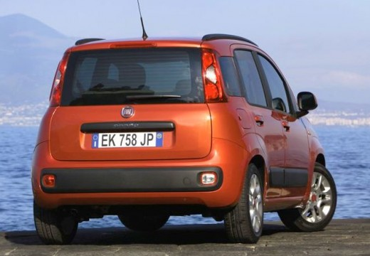 FIAT Panda hatchback czerwony jasny tylny prawy