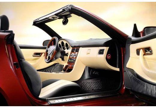 MERCEDES-BENZ Klasa SLK SLK R 170 kabriolet bordeaux (czerwony ciemny) wnętrze