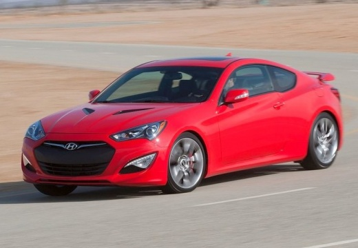HYUNDAI Genesis II coupe czerwony jasny