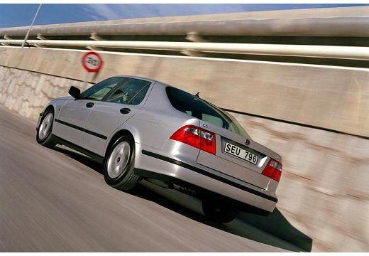 SAAB 9-5 II sedan silver grey tylny lewy