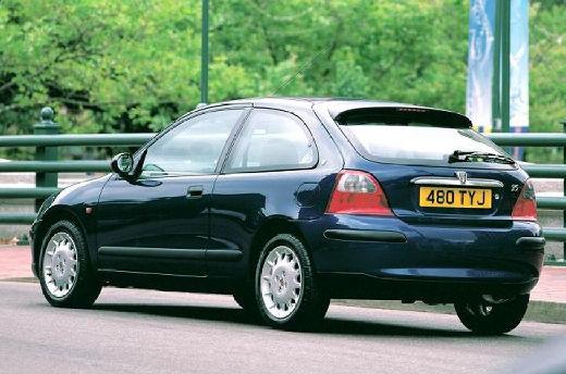 ROVER 25 hatchback czarny tylny lewy