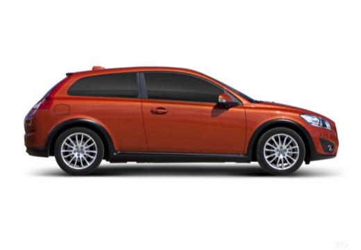 VOLVO C30 II hatchback pomarańczowy boczny prawy