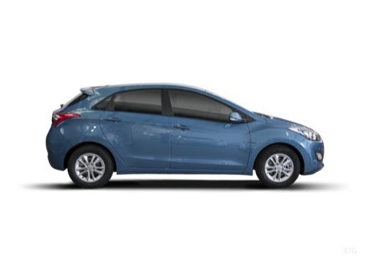 HYUNDAI i30 III hatchback niebieski jasny boczny prawy