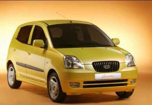 KIA Picanto hatchback żółty przedni prawy