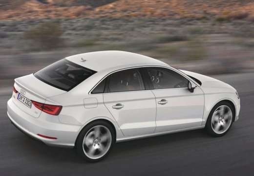 AUDI A3 Limousine sedan biały tylny prawy