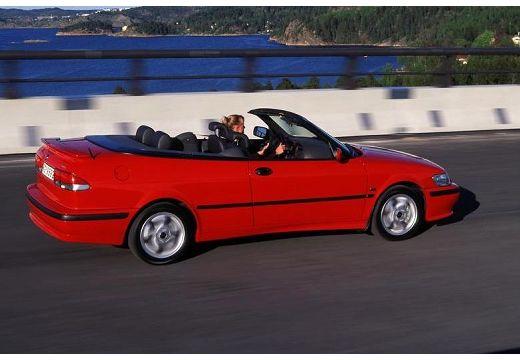 SAAB 9-3 Cabriolet I kabriolet czerwony jasny tylny prawy